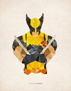 http://thecoolsumist.tumblr.com/tagged/illustration #hero #illustration #polygon