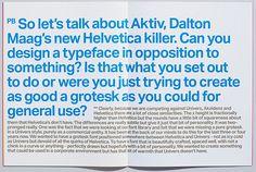 Bruno Maag - Aktiv Grotesk #font #typeface