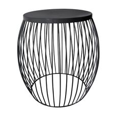 Miami Wire Stool Black 44.5cm x 44.5cm x 47cm