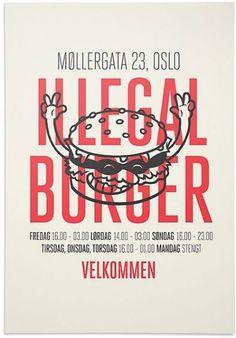 Illegal Burger #design #graphic