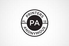 Printers Anonymous Logo #logo #design