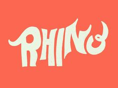 Rhino Letters #type #hand lettering #rhino