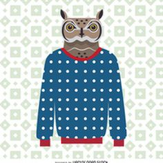 Sweater owl illustration http://bit.ly/29kf6OA