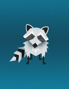 More Illustrations on the Behance Network #raccoon #curious #bold #illustration #animal