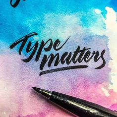 Type matters 🖋 - - - #typespire #lettering #calligraphy #handlettering #typetopia #artoftype #ligaturecollective #strengthinletters #lett