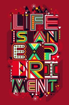Life is an Experiment Stretched Canvas by Dzeri29 | Society6 #typography #lettering