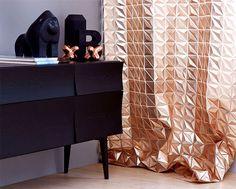 Interior Design Trends 2015 The Dark Color Schemes are Back curtain eprisma copper supermatt black #furniture #design