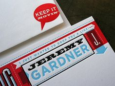 Jeremy Gardner Stationery | S G N L // Branding & Design #letterpress #on #fire #studio #sgnl