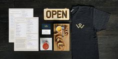 Wright & Co. Branding #branding #sign #menu #shirt #system #identity #logo #open