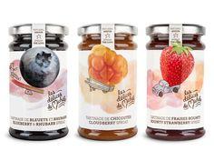 Délices de Michèle - Brand Identity & Packagings on Behance #branding #packaging #fruit #food #natural #jams #illustraion