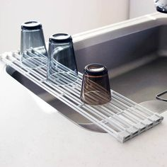 Fold or expand this rack to dry few, or many dishes. #design #product #industrialdesign #modern #lifestyle