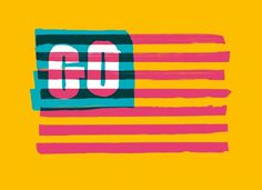 Erik Marinovich – Friends of Type – Go America #painted #cheery merica