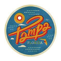 Tampa, FL -- Kendrick Kidd #illustration #badge #florida