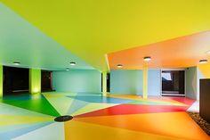 Creative Review - Craig & Karl's colourful car park #bright #car park #painted