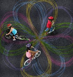 Chalktrails for Bikes and Scooters #kids #bikes #gadget