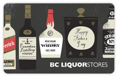 BC Liquor Stores Father's Day illustrations by Tom Froese