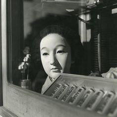 ©Issei Suda - Tokyokei - Fotografía | Photography #bizarre #white #black #photography #mask #vintage #and #window #japan #beauty