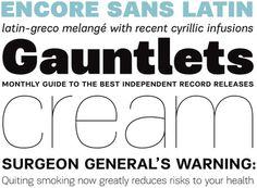 Encore Sans by Panos Vassilíou #font #serif #sans #type #parachute #typography