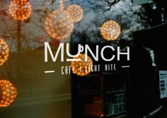 Munch Cafe on Behance #logo