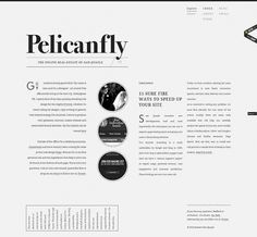 Pelicanfly | Minimal Exhibit #website #clean #typography