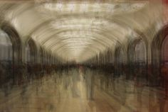 photocollage from mayakovskaya metro station, moscow, 2012 #photography #architecture #metro #moscow #collage