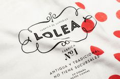 #packaging #identity #Lolea #sangria #red #white #polkadot