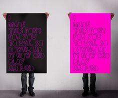 Handmade font - HUSKMELK #font #handmade