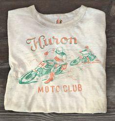 huron moto tee #automobile #vintage #tee #moto #club