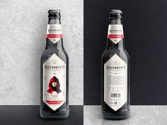 The Descendants Beer bottle label by Josip Kelava #descendants #beer #bottle #label #josip #kelava #harbinger #vintage #red #canada