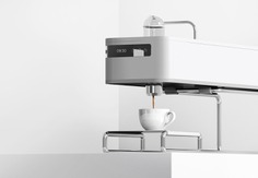 Minimal design Espresso machine -Pouring coffee