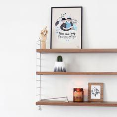 #nordic #design #graphic #illustration #danish #bright #simple #nordicliving #living #interior #kids #room #favourite #best #love #poster