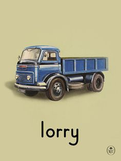 lorry Art Print by Ladybird Books Easyart.com #print #design #retro #artprints #vintage #art #bookcover