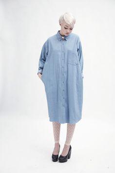 Oversized Shirt Dress Denim #photography #retail