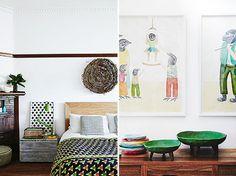 inside out magazine bedroom art #interior #design #decor #deco #decoration