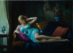 Figurative Paintings by Laszlo Gulyas | Cuded #laszlo #paintings #gulyas #figurative