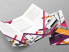 Colorful Stripes Trifold You can download it here: http://graphicriver.net/item/colorful-stripes-trifold/8041095?ref=abradesign #modern #stripes #colorful #template #trifold #download #graphicriver #brochure