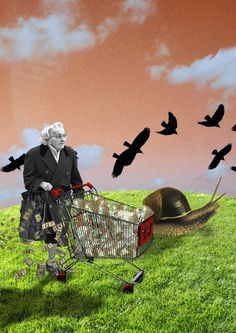 Slow Payments #modern #surrealism #vintage #art #collage