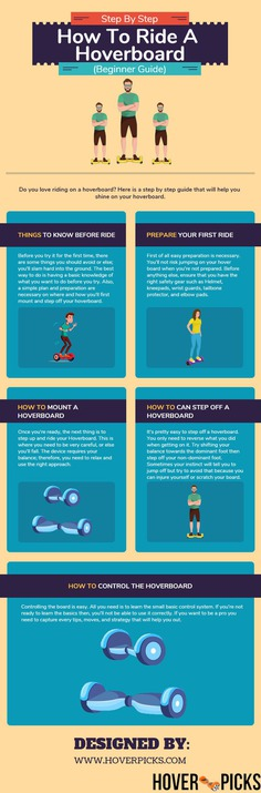 How To Ride A Hoverboard Infographic