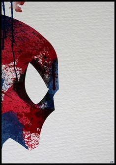 Paint Splattered Superheroes - My Modern Metropolis #illustration #superhero