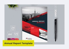 Annual Report Template in InDesign by artmap