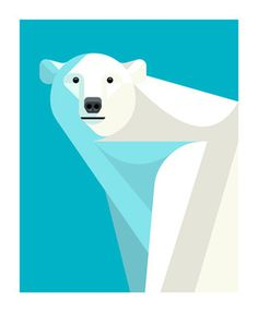 Polar Bear by Josh Brill #icon #iconic #picto #animal #bear #polarbear #geometric