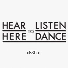 Hear to Listen Here to Dance #animated #iden #identity #gif #futura #logo
