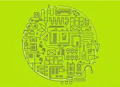 Recycling illustration via Patrick Iadanza