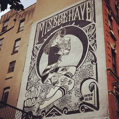 Miss Behave was the first boutique in Manhattan to carry REBEL8. Unfortunately, theyve been out of business for years. But its rad to see #giant #missbehave #mike #rebel8 #york #new