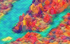Lego New York 3D Artist #design #graphic #3d