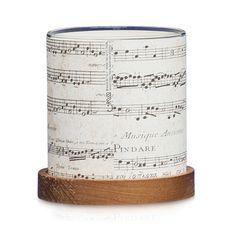 Vintage Music Mini Lantern, 9.5 cm H x 9.5 D