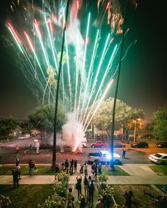 #fireworks #street #celebration #hood