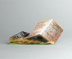 brokenhouses-15 #sculpture #house #art #broken #miniature