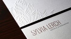 Sylvia Lerch - Highly Embellished Business Papers | Portfolio von Melville Brand Design #papers #embellishment #business