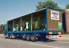 Golf Truck advertisement idea